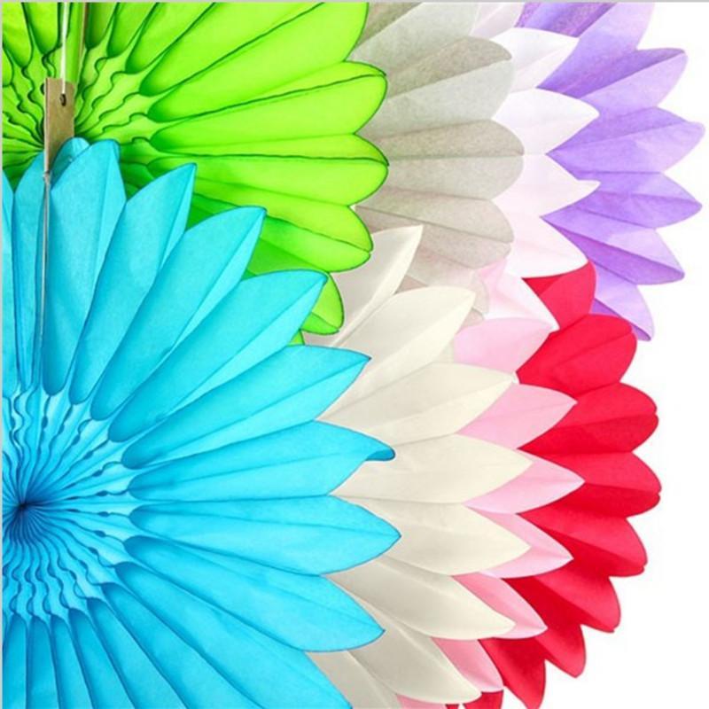 25cm Tissue Paper Fan Diy Crafts Hanging Wedding Supplies Birthday