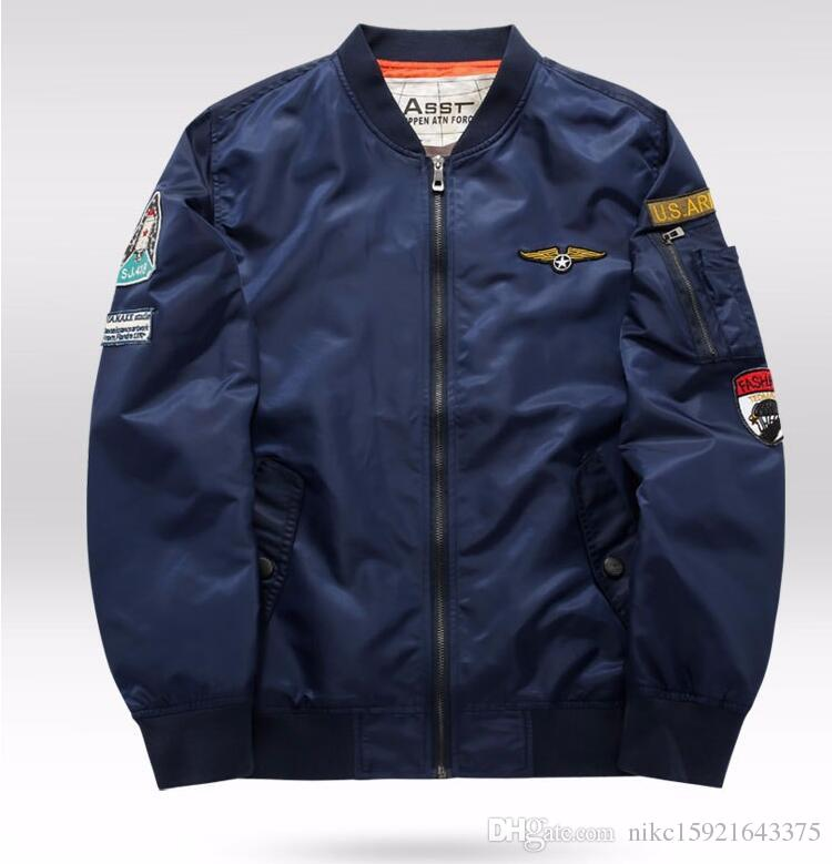 Asst Aeronautica Military Air Force One Bomber Jackets Men ...