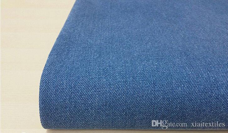 Wholesale 5 colour A grade washed cotton denim fabric,print satin fabric,tweed fabric Pants Dress cotton Fabric tecido B238