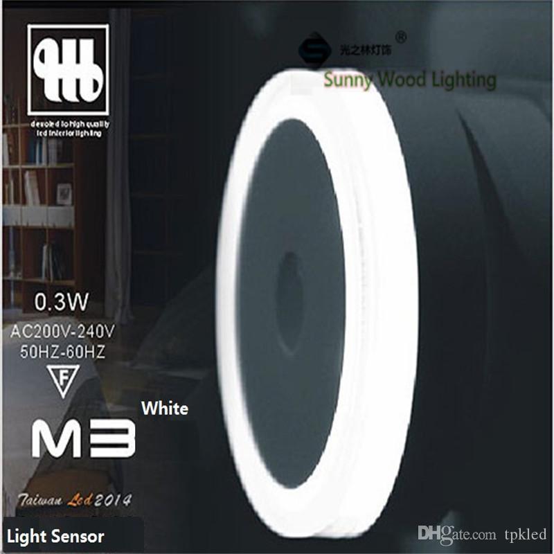 Beautiful 2018 0 3w 50mm Round 200 240vac Led Light Sensor Socket Night Lamp Brightness Detect Automatical Wall Lamp From Tpkled $6 94 Contemporary - Elegant led light sensor Trending