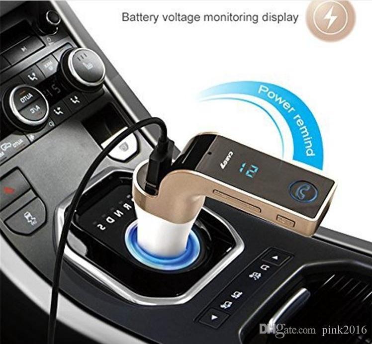G7 Smartphone Bluetooth MP3-Player Handfree FM Transmitter 2.1A Kfz-Ladegerät Wireless Kit Unterstützung Freisprecheinrichtung Micro SD TF Karte