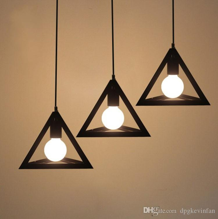 pendant lighting on a track. Triangle Shape 1/3 Lights Loft American Country Vintage Style Northern Europe Creative Iron Art Bar Bedroom Pendant Lamp Dining Room Ceiling Track Lighting On A D