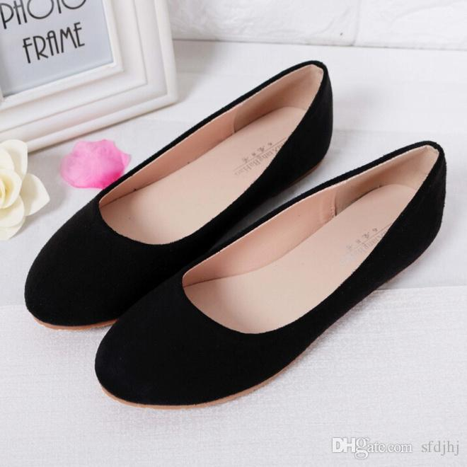 e4b9db3a2a75 Spring Summer Ladies Shoes Ballet Flats Women Flat Shoes Woman Ballerinas  Black Large Size 43 44 Casual Shoe Sapato Womens Loafers Clogs For Women  Shoe ...