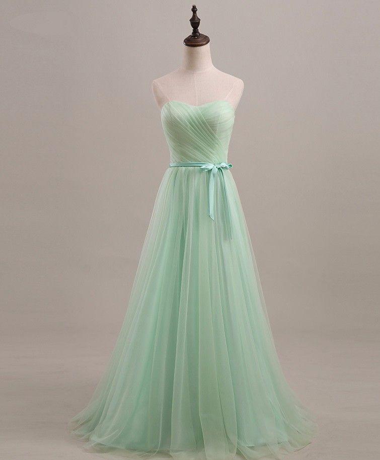 Robe demoiselle d'honneur2017 new Tulle ALine light purple mint green bridesmaid dress long real photo wedding guest dress cheap