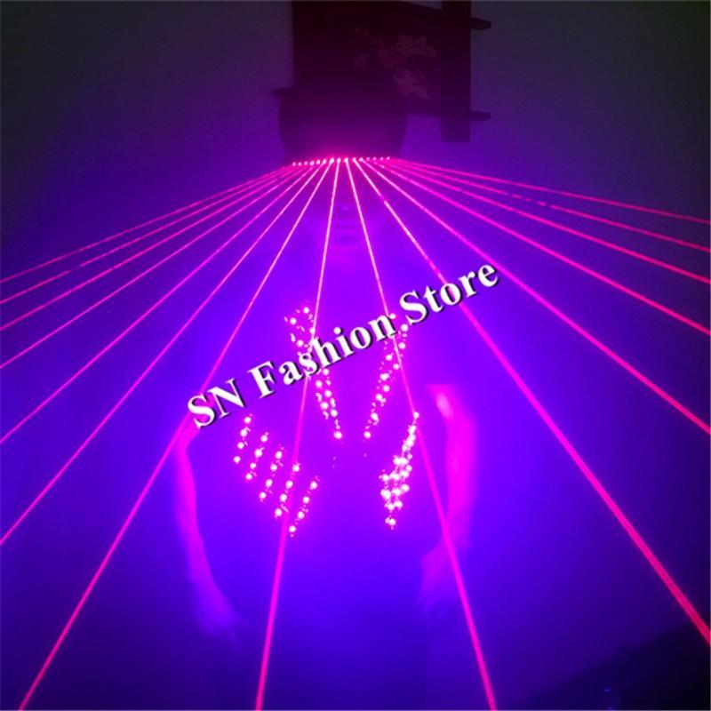 Tful led light ballroom costume RGB light dance dress wears led costume dj clothes bar vest laser glasses disco props