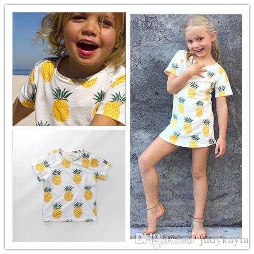 934afb054c7 2019 2018 Summer Children Pineapple Short Sleeve T Shirt Fashion Boys Girls  Cotton Casual T Shirts Kids Clothing Cute Baby Tops 80 120cm From  Judykayla