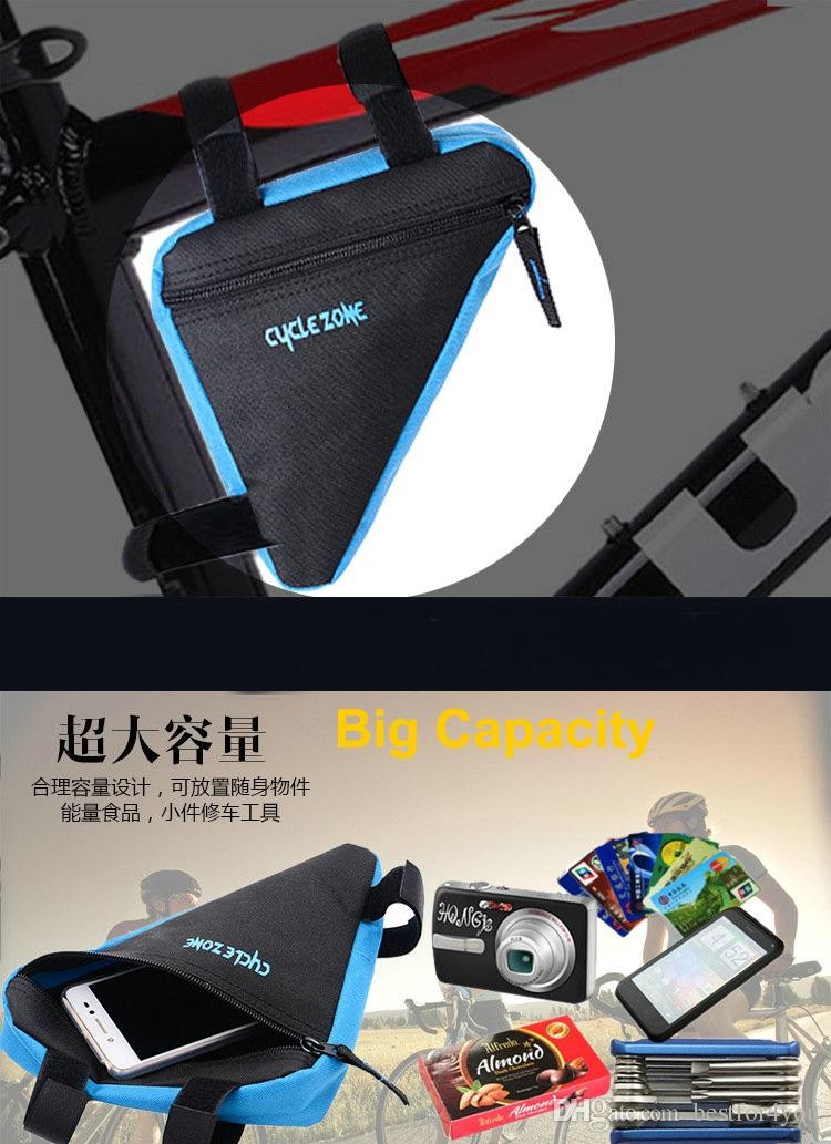 New Bicycle Bike Bag Front Frame Head Pipe Triangle Bag Pouch Dropshipping Wholesale Accessories