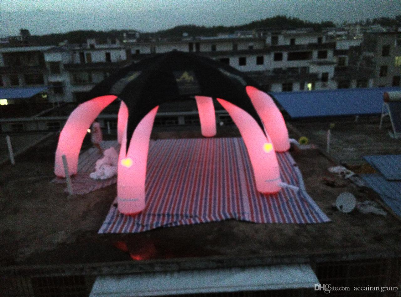 New custom rental black cover cloth style inflatable spider tent