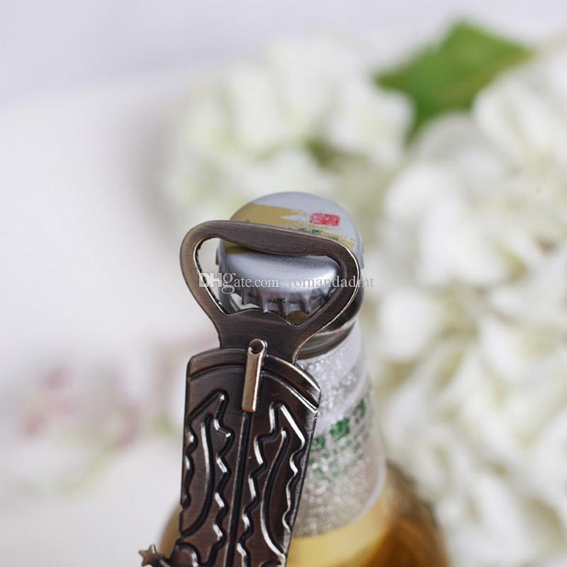 Retro Boots Chrome Bottle Opener Cowboy boots Beer Bottle Openers Wedding Favors Supplies Christmas Party Gift DHL