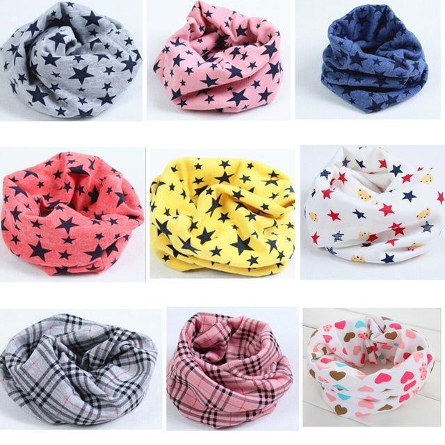 606ec498e336 Hot Sale! Fashion 100%Cotton Baby Scarf Children O Ring Collars Kids ...