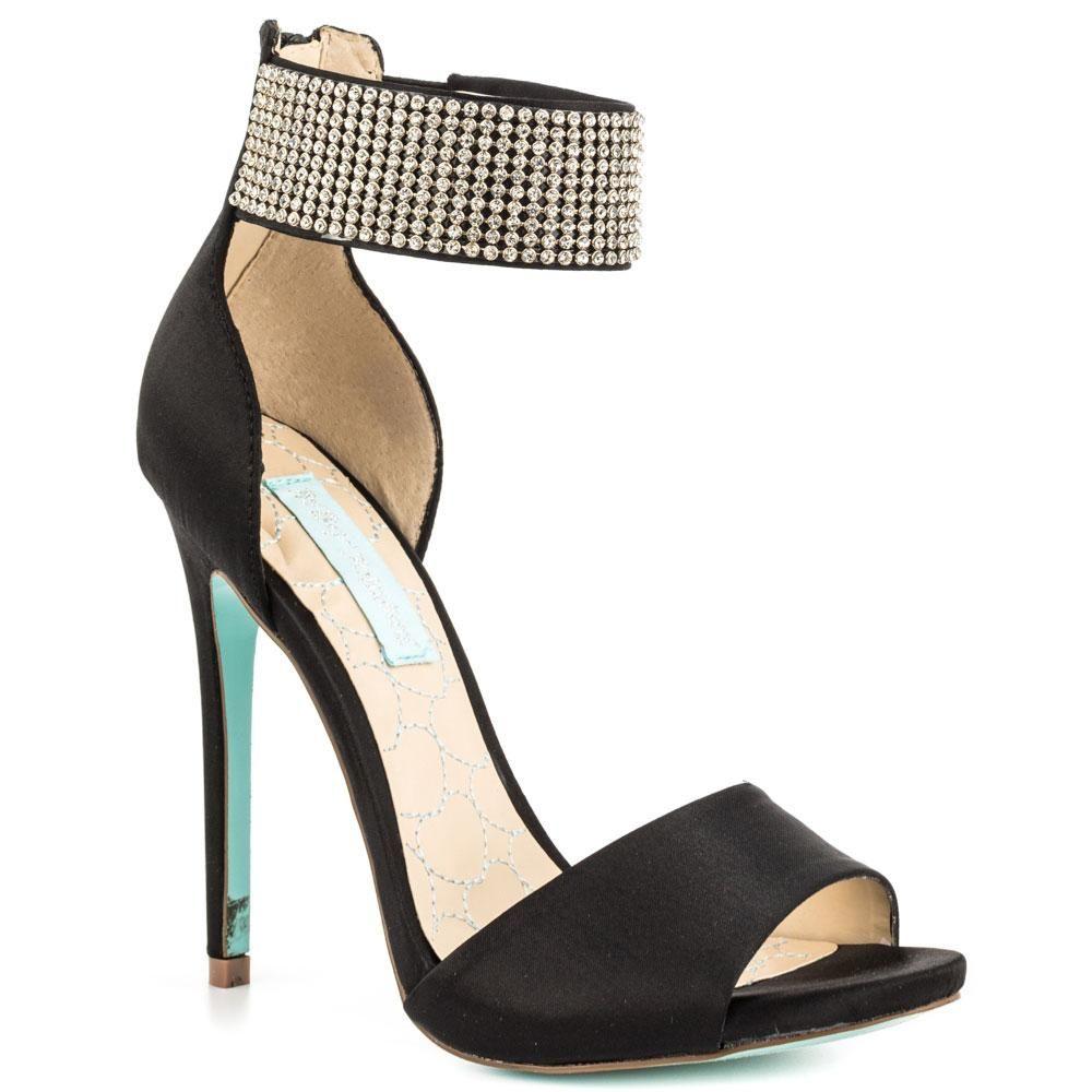 b4b6508b531f8e Black Satin Rhinestone Wedding Shoes Stiletto Open Toe Made-to-order ...