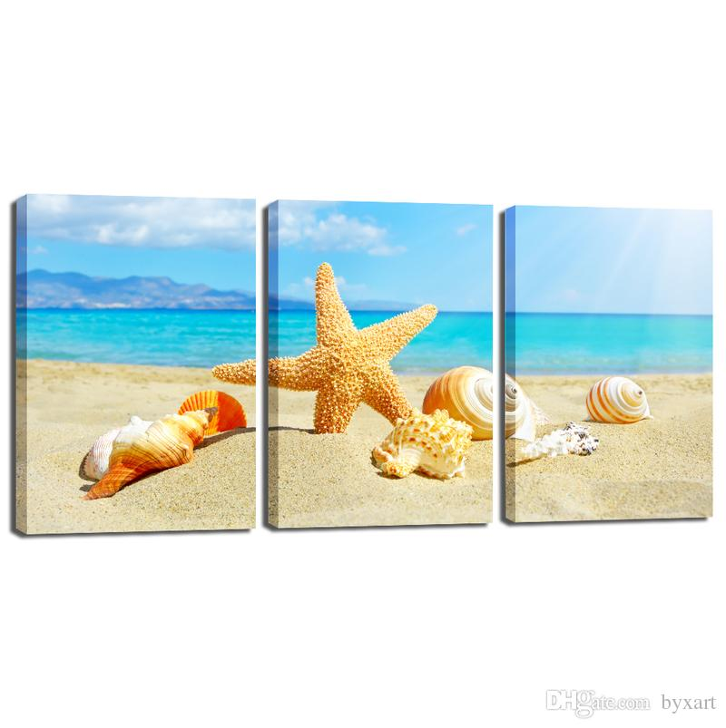 2018 Canvas Wall Art Seascape Oil Painting On Canvas Beautiful ...
