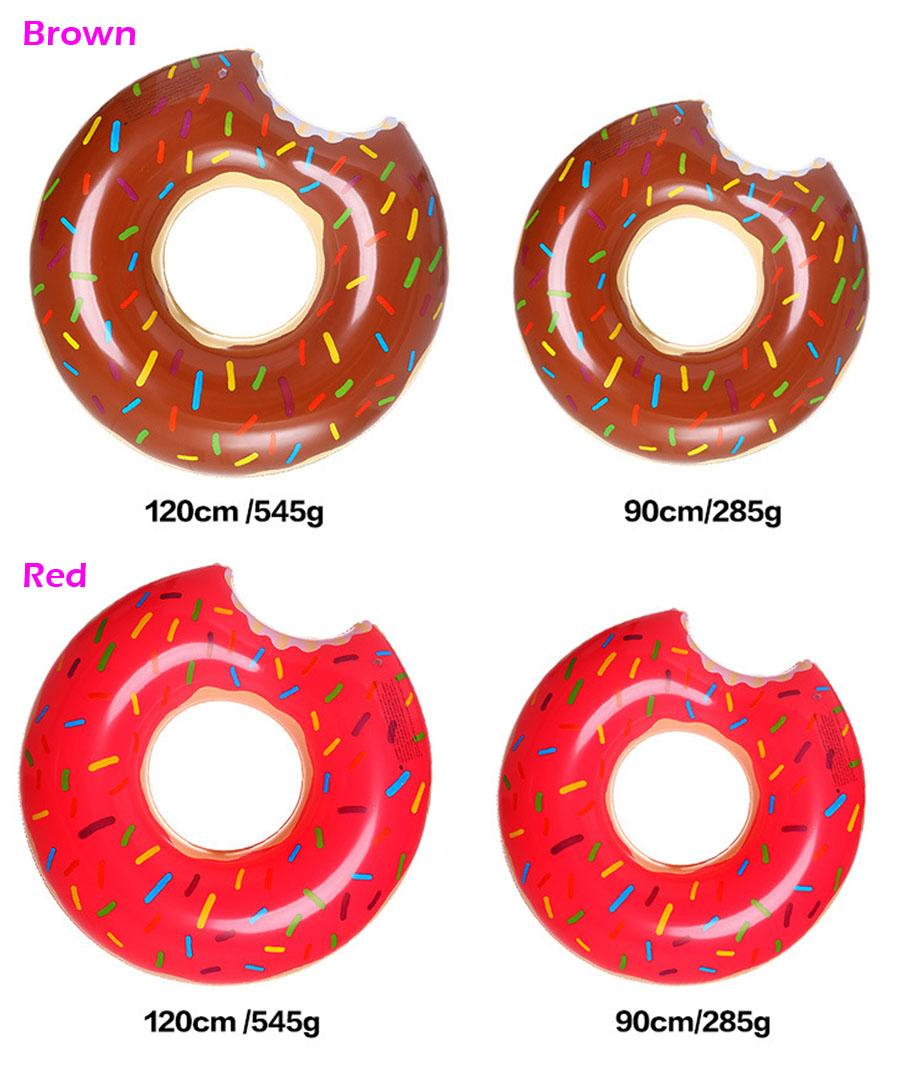 120cm 90cm Adult / Child Inflatable Swim Ring Donut Shape Swimming Pool Water Float Raft Floating Rings Inflatable Swiming Laps Buoy