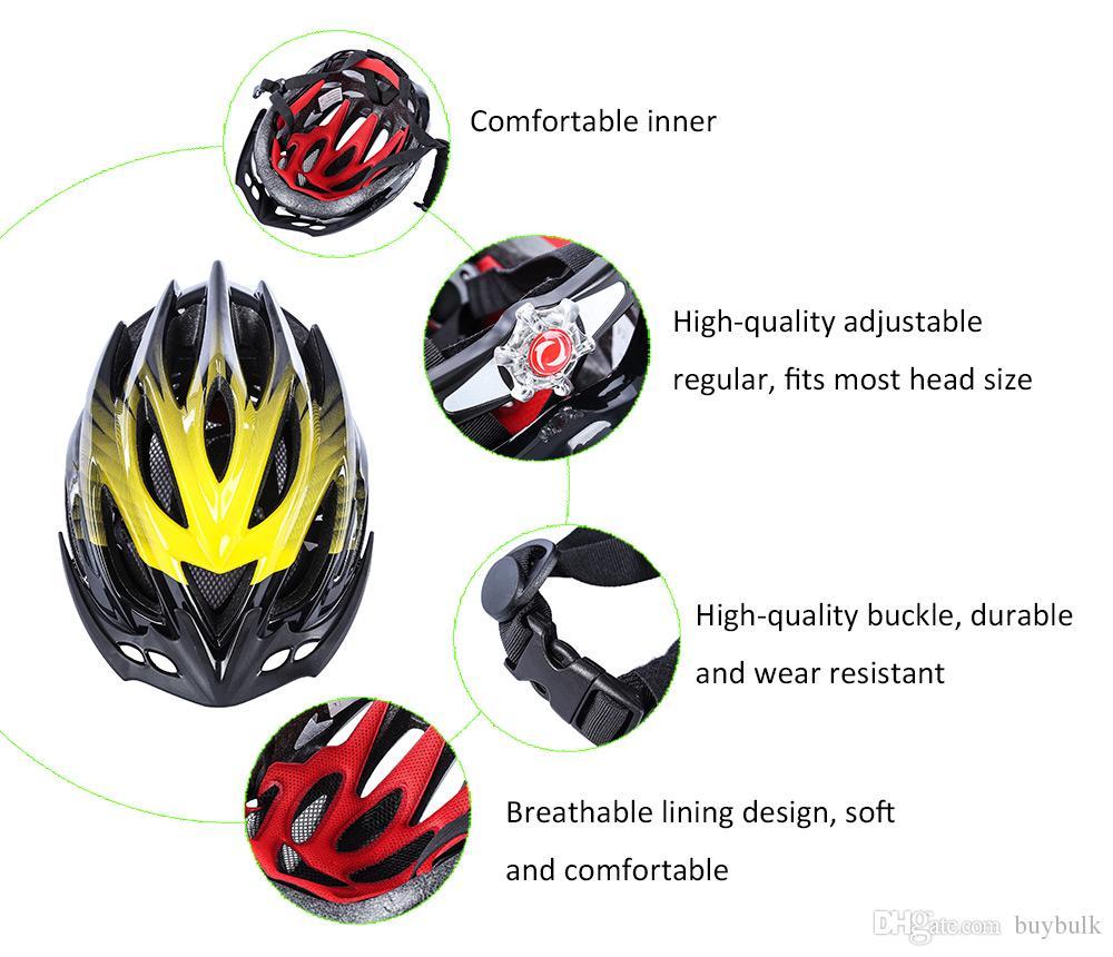 SAHOO 53-60 CM 23 Delik Yetişkin Güvenliği Spor Kask Yarı parlak Tahliye Kask Ultralight EPS MTB Dağ Yol Bisikleti Bisiklet Kask