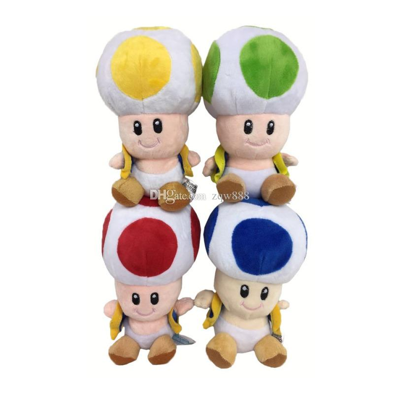 "NEW 6.5"" 17cm Super Mario Bros Toad Plush Dolls Stuffed Toy Animals For Baby Gifts"