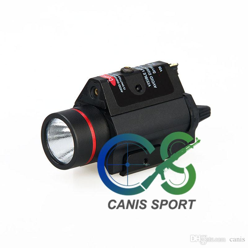 new arrival 3W-H2 aluminum M6R flashlight with red laser lumens 180LM Bulb CREE Q5 CL15-0096