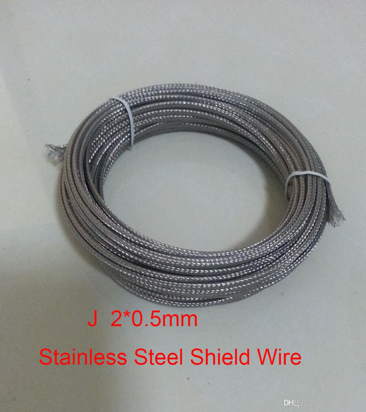 2*0.5mm J TypeFiberglass Coated Stainless Steel Shield Thermocouple ...