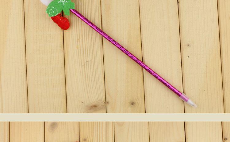한국 핫 제품 크리스마스 만화 볼펜 오래된 머리 크리스마스 선물 도매 학교 용품 상금 거래