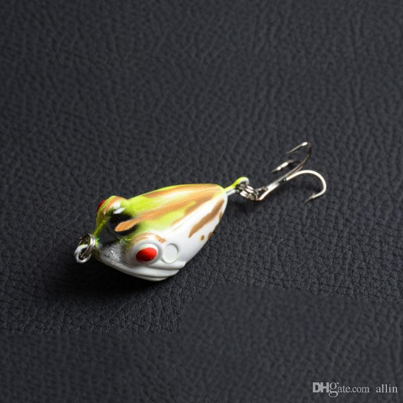 6 اللون 4 سنتيمتر 6 جرام mocrux 3d العين الصيد إغراء ملون الصلب الضفدع الطعوم شارب هوك معالجة topwater الأسماك السحر يعالج الطعم السنانير
