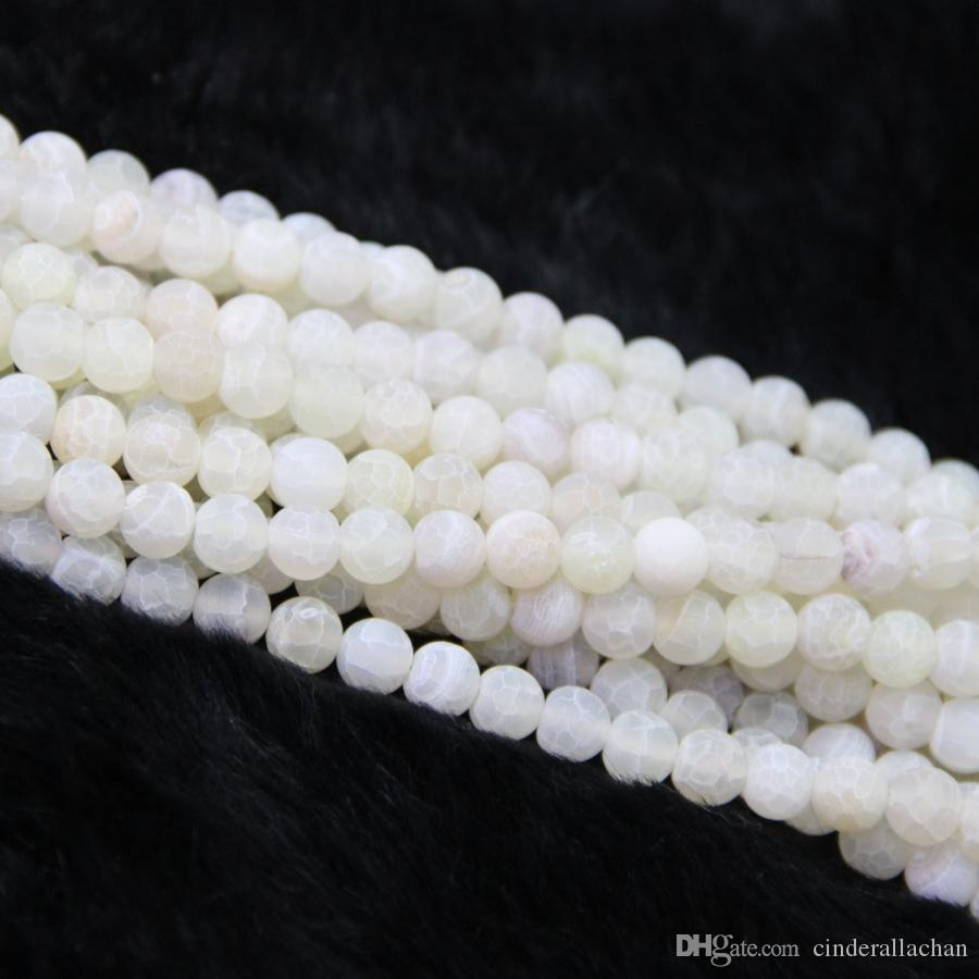 10mm /1Strand Dragon Fire White Druzy Agate Beads Natural Gemstone Crystal Quartz Druzy Agate Necklace Pendant Jewelry Make Connector