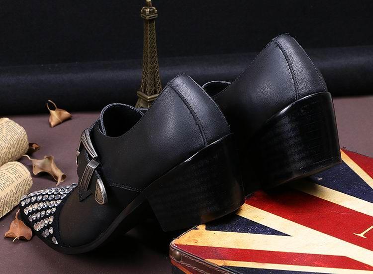 Designer de luxo mens preto monk dress shoes moda strass couro fivela cinta sapatos baixos para homens lazer sapatos tamanho 38-46