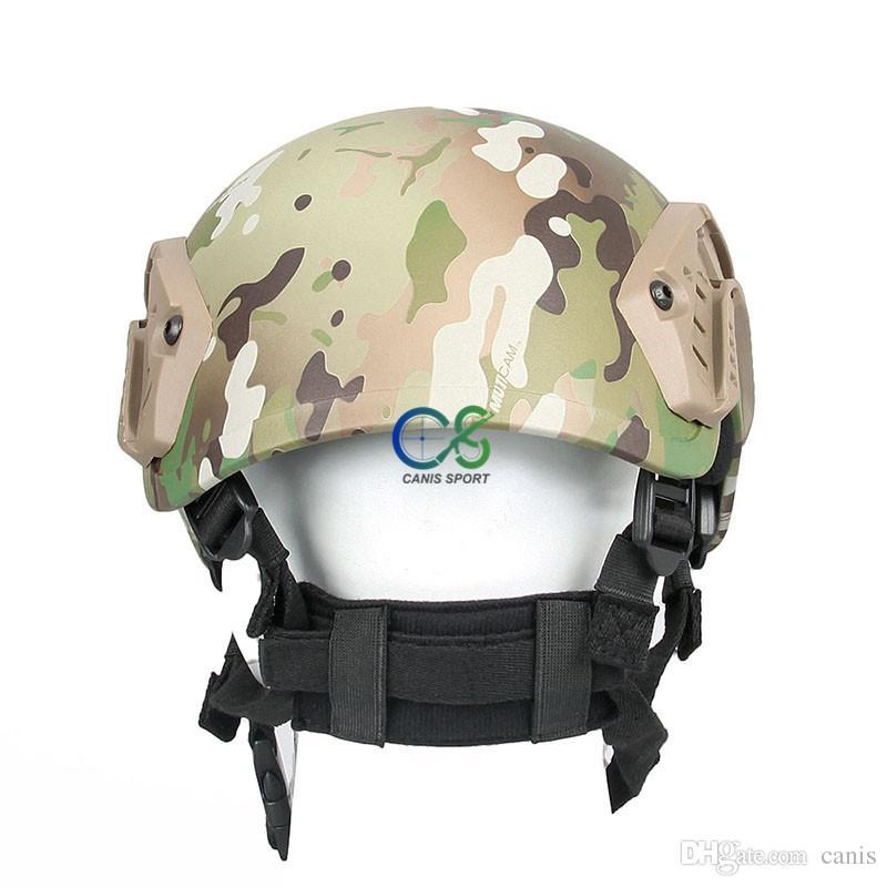 Il nuovo casco tattico di arrivo w / supporto di NVG e la ferrovia laterale uso di caccia liberano il trasporto CL9-0019