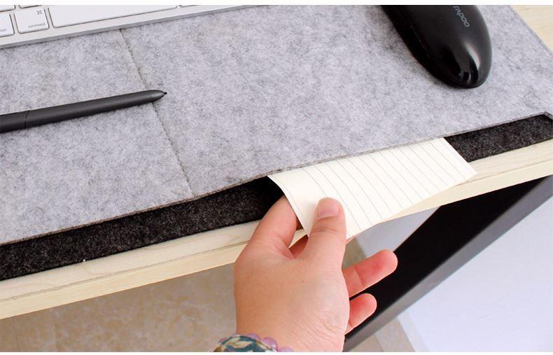 펠트 컴퓨터 테이블 매트, 도매 사용자 정의 펠트 컴퓨터 책상 매트, 대형 마우스 패드, 책상 마무리 가방.