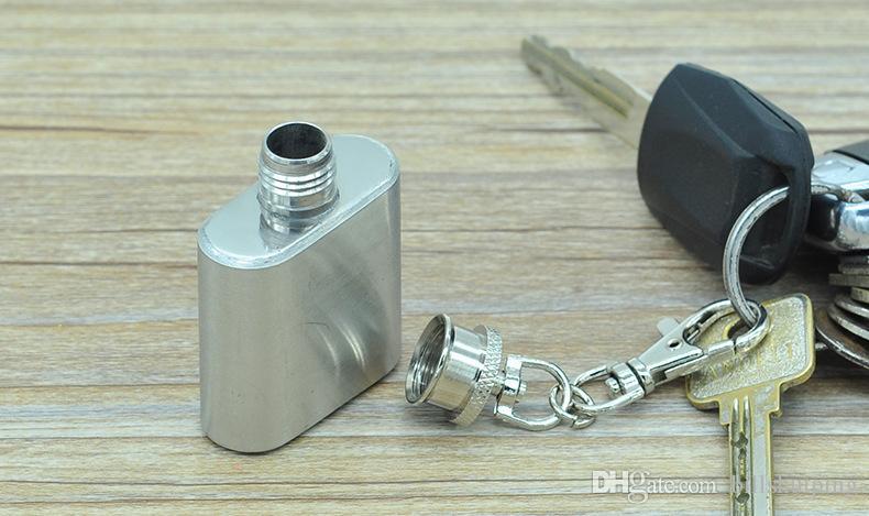 Ücretsiz kargo paslanmaz çelik anahtarlık şarap şişesi anahtarlık flask 1 OZ Mini flask Paslanmaz çelik cep şişesi anahtarlık Şarap Pot