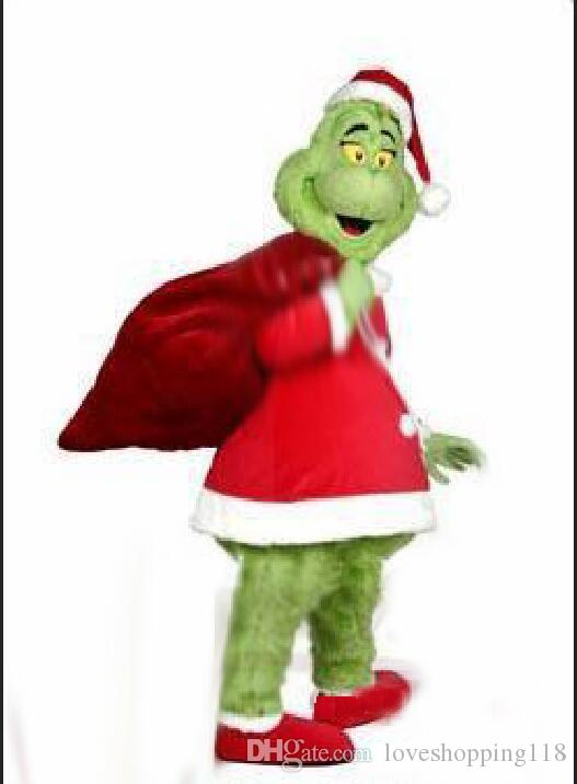 professional high quality movie how the grinch stole christmas mascot costume suit fancy dress party costumes carnival costume build a mascot stingray