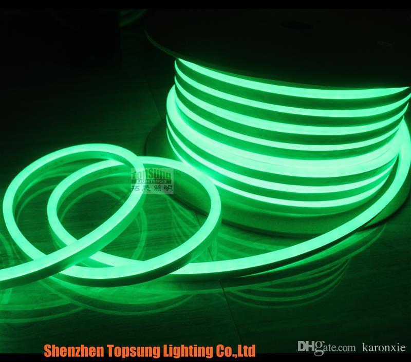 50м катушка 110В 120в 127В или 220В мини светодиодный неон свет веревочки 8.5x17mm супер яркий полосы водонепроницаемый для открытый одного цвета