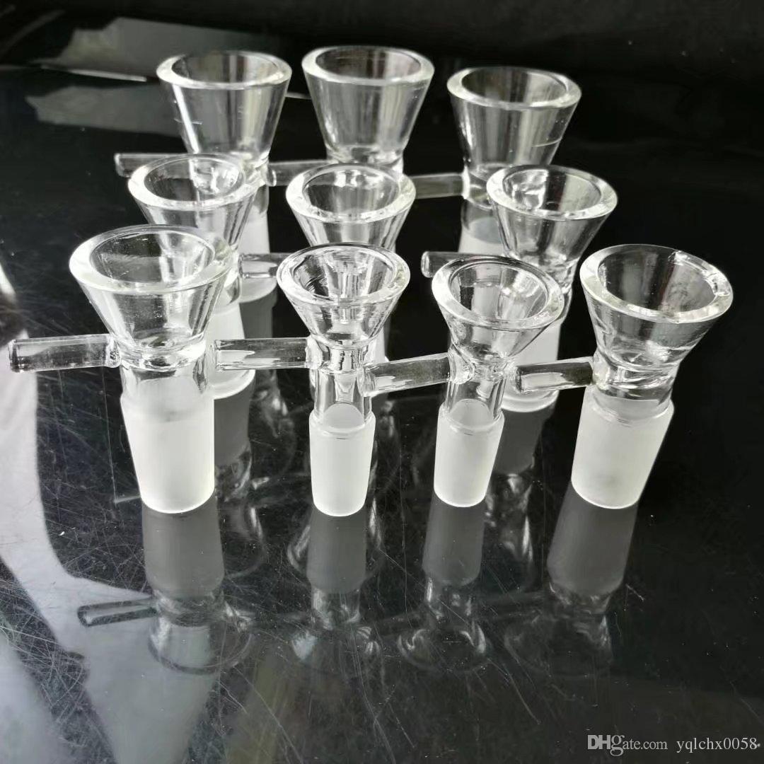 Nuevo adaptador de embudo transparente, bongs de vidrio al por mayor, pipa de agua de vidrio, accesorios de tubería humo
