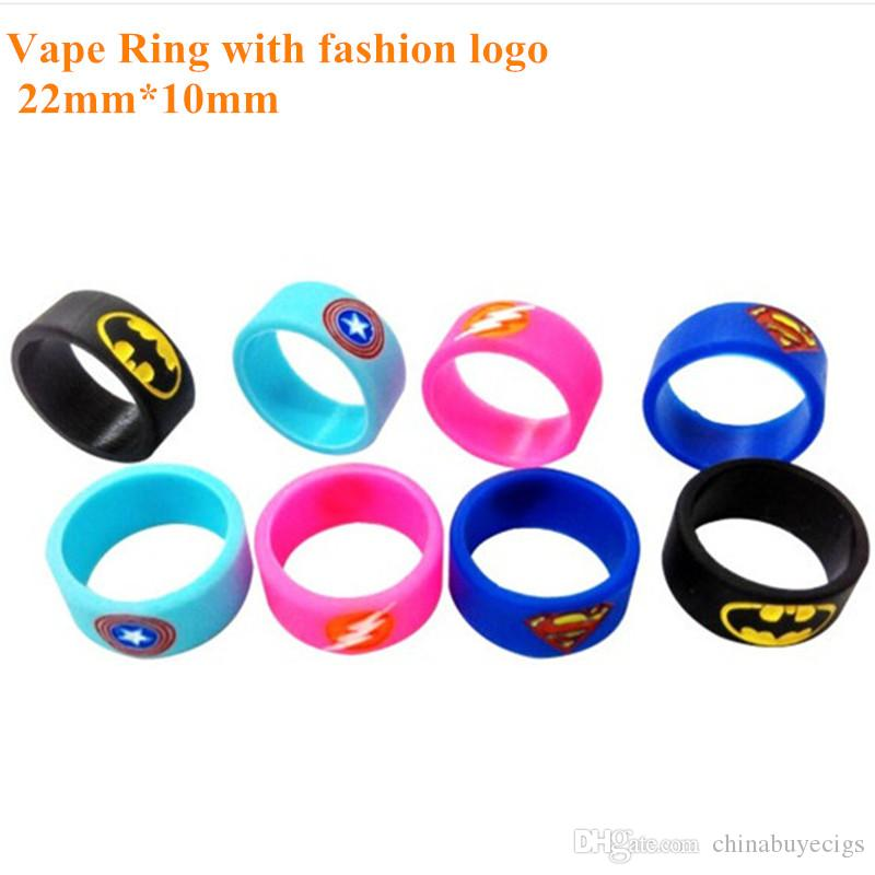 Silicone Non-slip Ring Vape Mod Ring for Mechanical Mod RDA RTA RBA and glass Tank 22mm Non Slip Rubber band fashion decorative