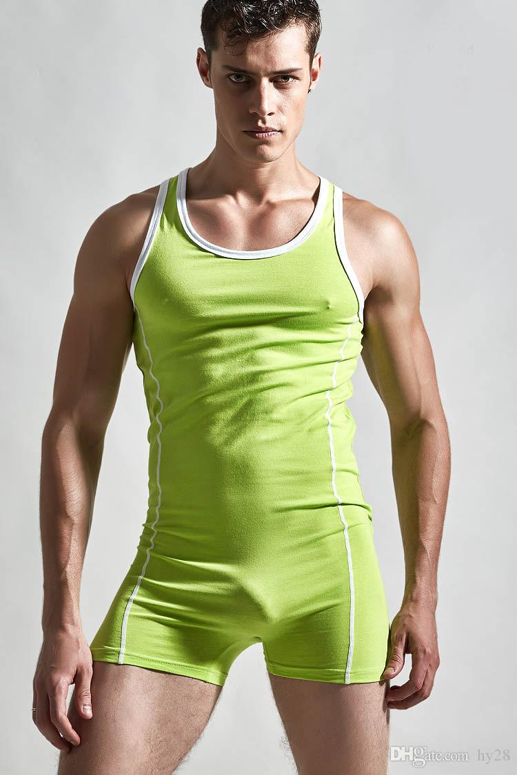 Sexy Unterhemd Männer Body Bodystrumpf Mann Wresting Unterhemden Shapper Homosexuell Penis Pouch Kleidung exotischen Club Overall Sport Tank Top