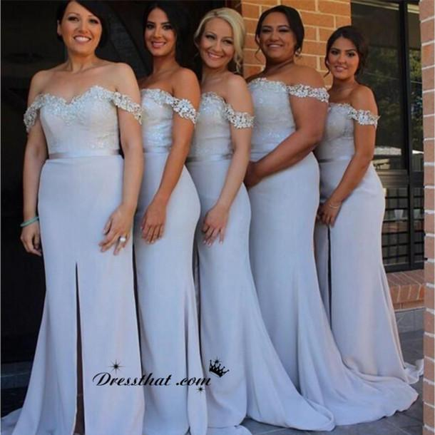 Fitted Blue Wedding Dress