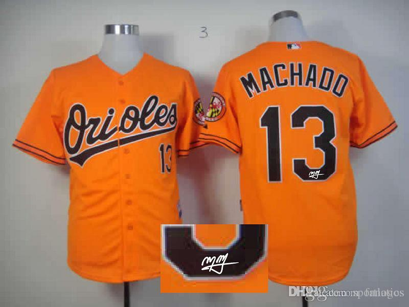 b0472b783d2 ... 2017 2015 New Wholesale Mens Baltimore Orioles Jersey Signature Edition Cool  Base Baseball Jersey 13 Manny White Manny Machado ...