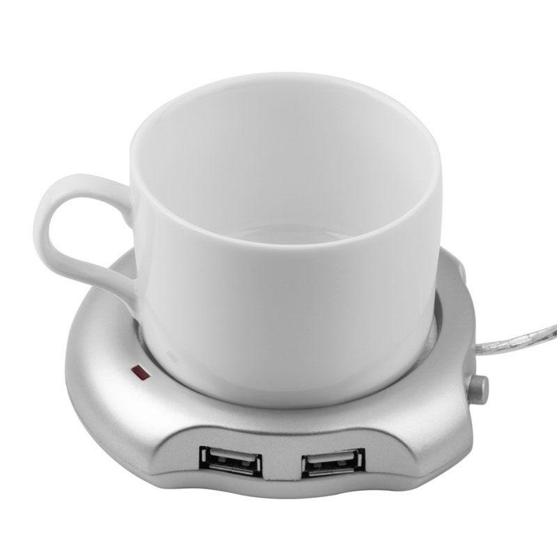 Boutique Fast USB Tee Kaffee Wärmer Heizung Tasse Becher Pad 4 Port USB Hub Büro PC Laptop