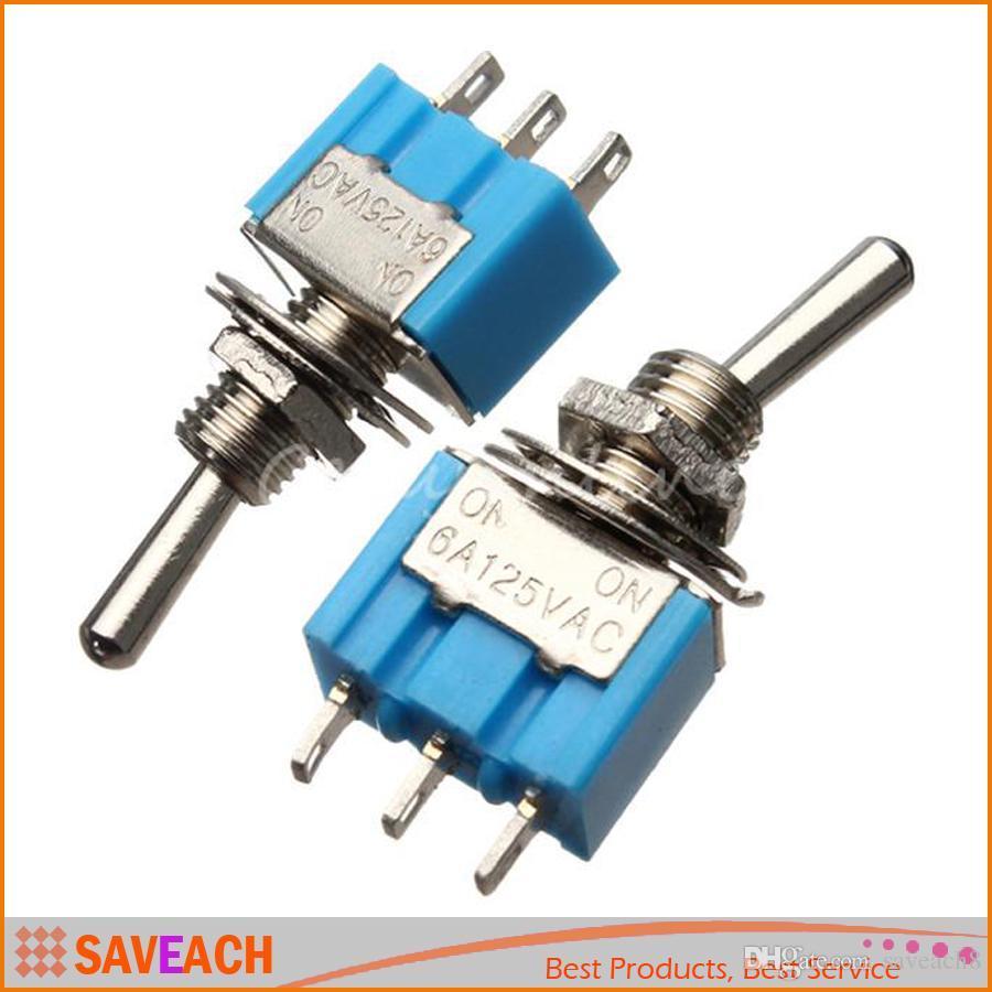 Miniature Toggle Switch MTS-102 SPDT 6A 125VAC/3A 250VAC Mini Switch ...
