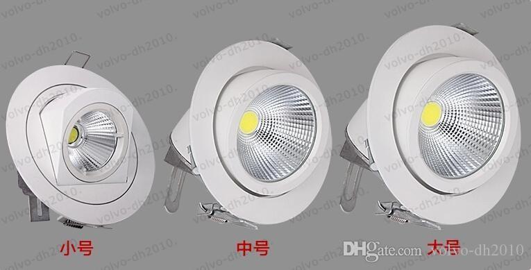 Envío gratis Epistar COB light Ajustable Al Por Menor Blanco Downlight 15W 25W 45W COB Downlight Spotlight con ángulo de ajuste en 2 direcciones