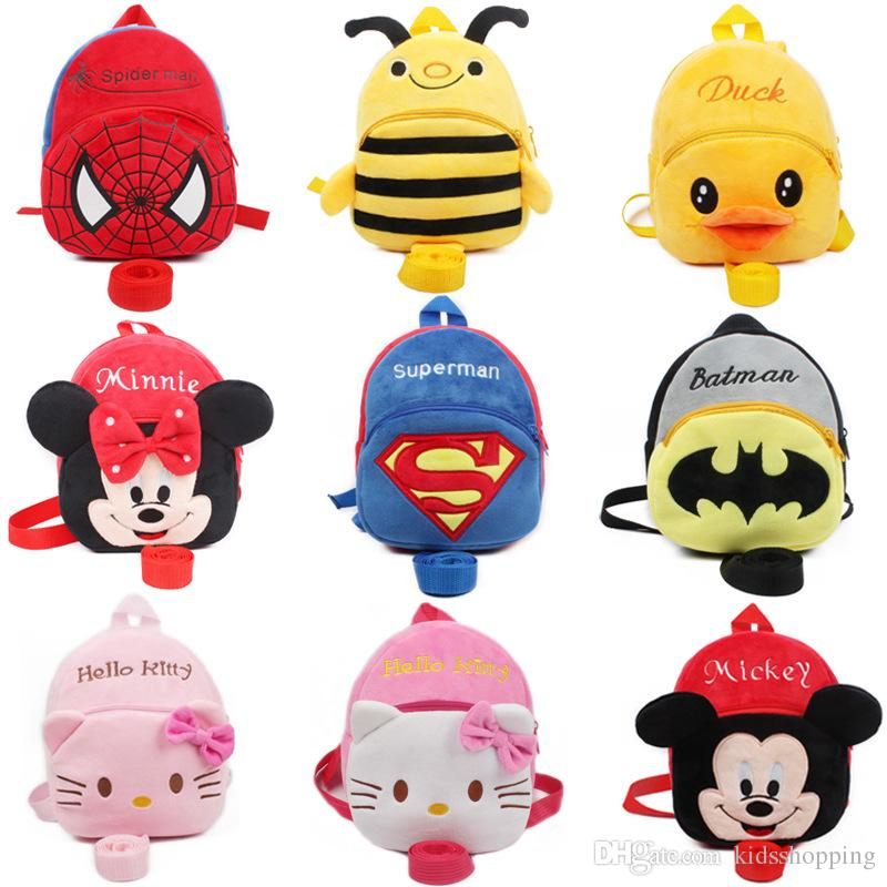 Luggage & Bags Large Size Plush Cartoon Baby Batman School Bags Children Plush Schoolbag Mini Backpack For Kindergarten Student Boys Toys Grade Products According To Quality