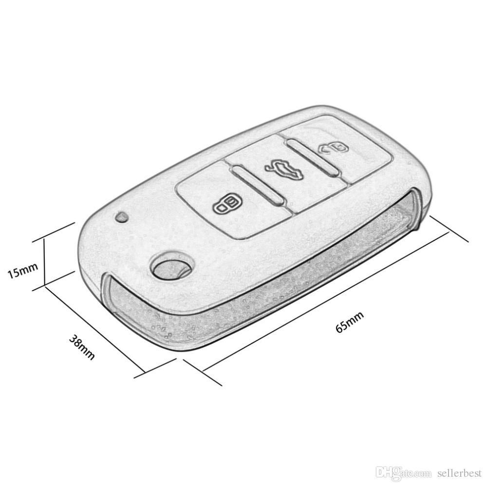 Voiture Keychain de cas de couverture de clé automatique de voiture de silicone pour à télécommande pour la série de Volkswagen VW