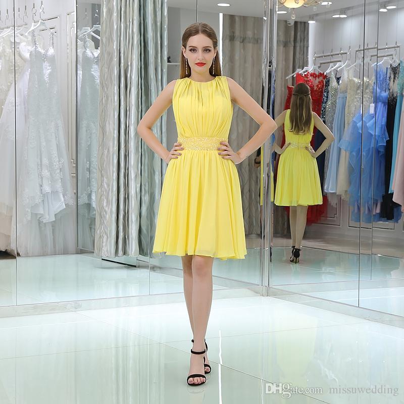 Robe du soir jaune