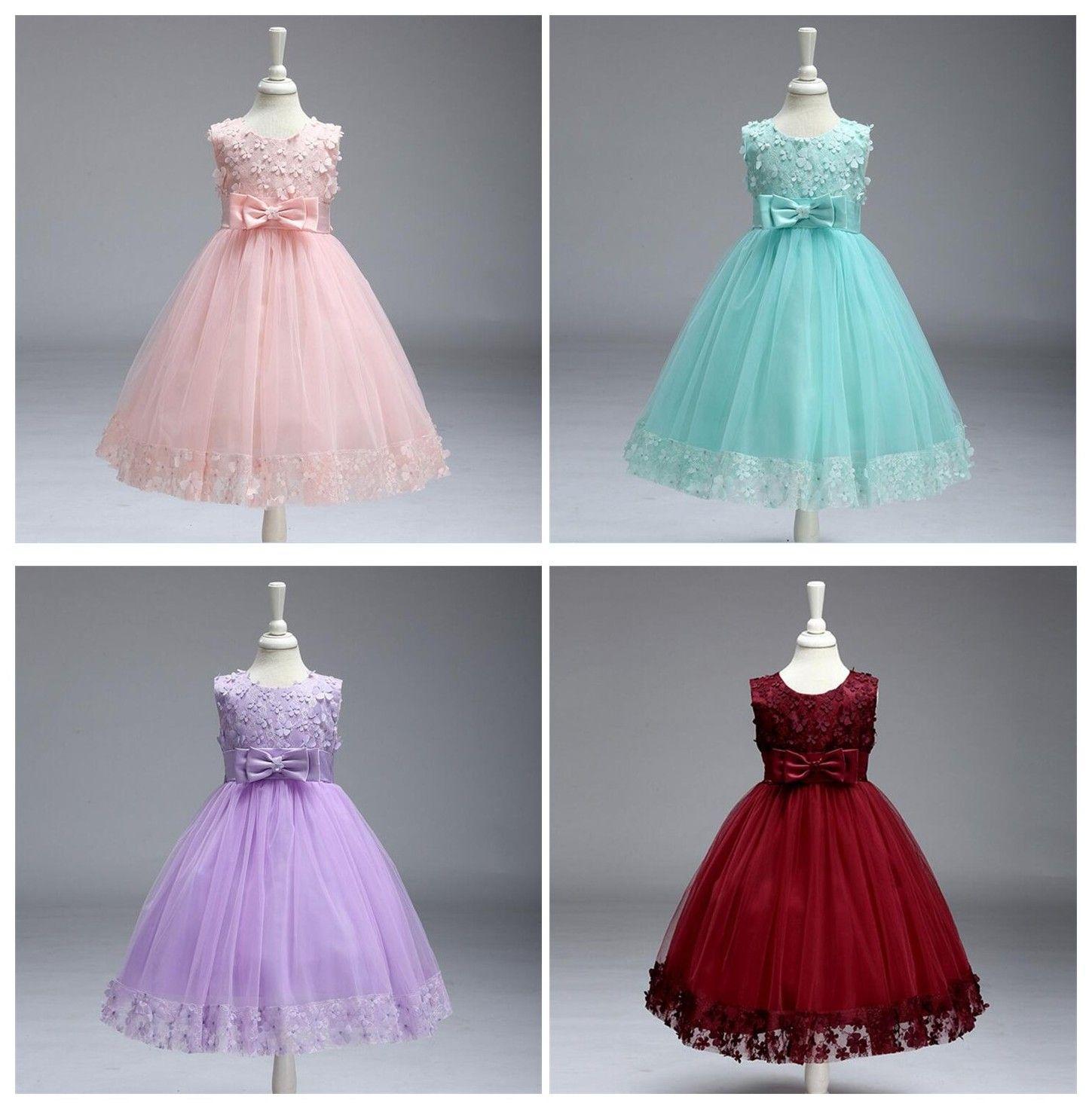 Kleidung Kinder Mädchen Elegante Blumen Großhandel Kinder Kleider b6gyYfv7