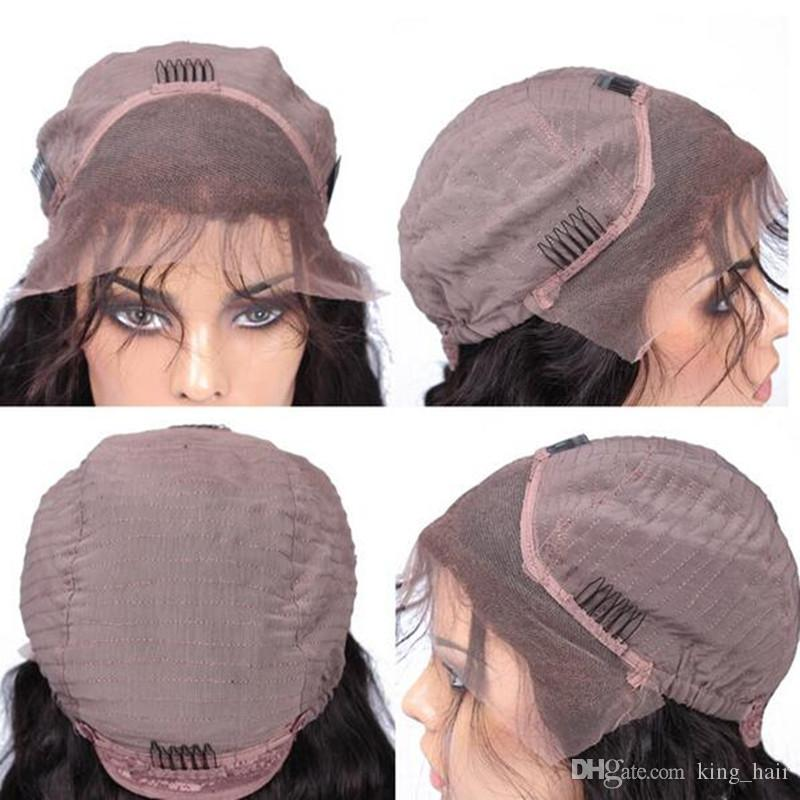 130%150%180% Density Kinky Straight Glueless Full Lace Wigs For Black Women 100% Brazilian Coarse Yaki Human Hair Lace Front Wigs For Woman