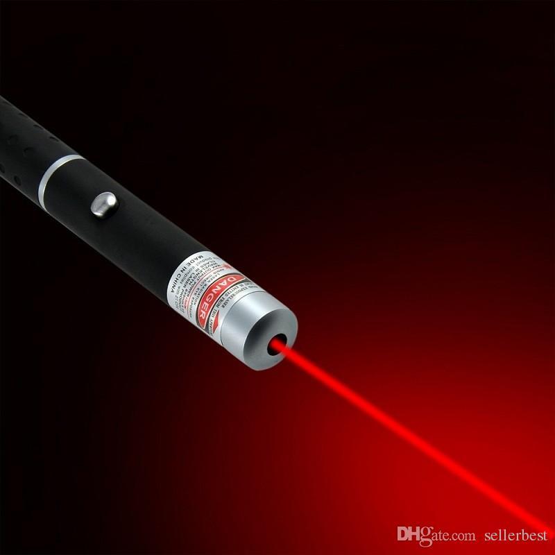 Potente Forte 5mw 650nm professionale Lazer Rouge Red Laser Pointer Pen visibile fascio di luce l'insegnamento Militery Pats giocattoli di apprendimento