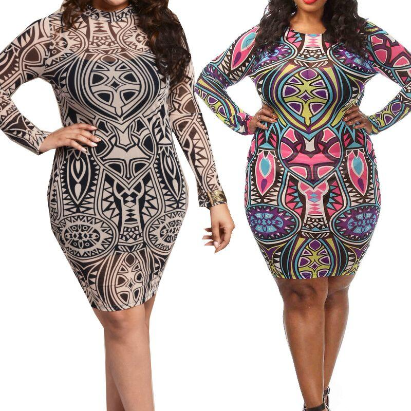 Fat Women Plus Size Slim Fit Bandage Dress For Women With Big Size
