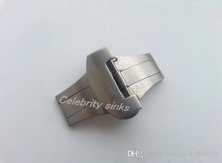 22mm neue hohe Qualität Edelstahl Scrub Bereitstellung poliert solide Doppel Schmetterling Schnalle Armband Band Gurt Verschluss Verwendung für Panerai
