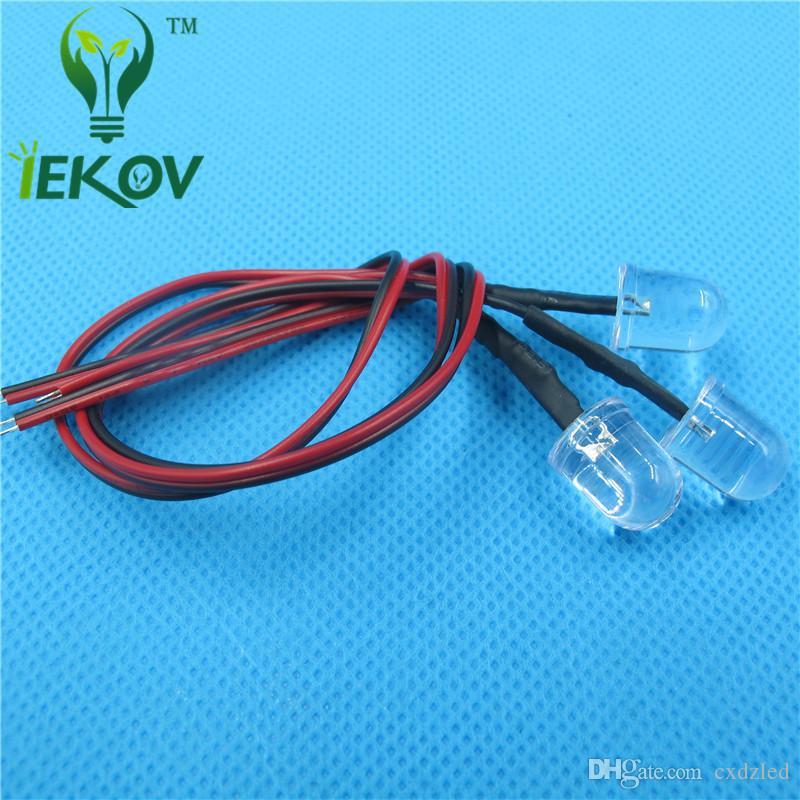 10MM Round Top Blue Leds Ultra Bright Pre-Wired Resistor 12v DC 20cm LED Light Emitting Diod For Car DIY HOT SALE Retail