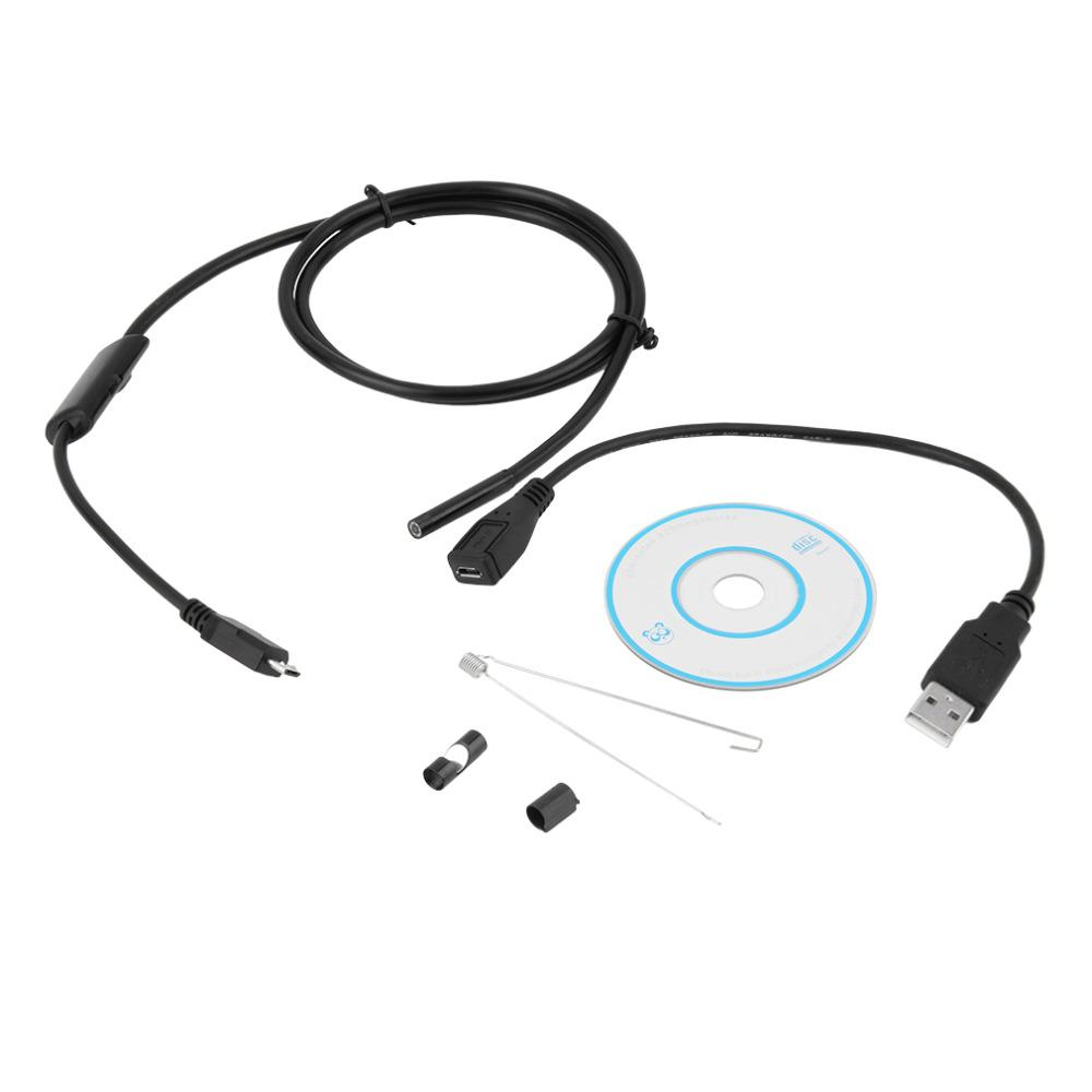 In stock! 6 LED 1M/5.5mm Lens 720P Android USB Endoscope Waterproof Inspection Borescope Tube Camera Wholesale