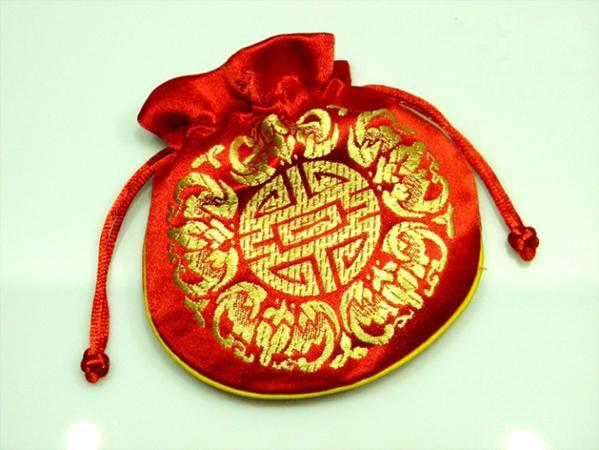 다채로운 즐거운 졸라 매는 끈 작은 선물 가방 보석 파우치 중국 스타일의 실크 브로케이드 생일 파티는 파우치 도매 호의
