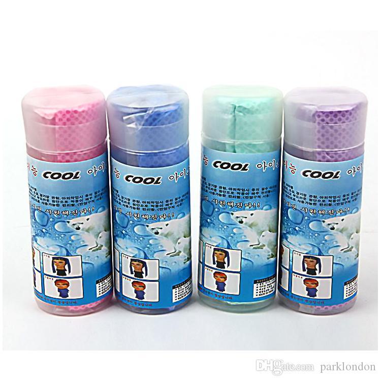 Unisex Coolcore Kalttuch Sommersport Eiskühltuch Hypothermie Kühles Handtuch 80 * 34 cm Für Sport Kinder Erwachsene Kostenloser Versand